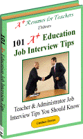 Education Job Interview Tips