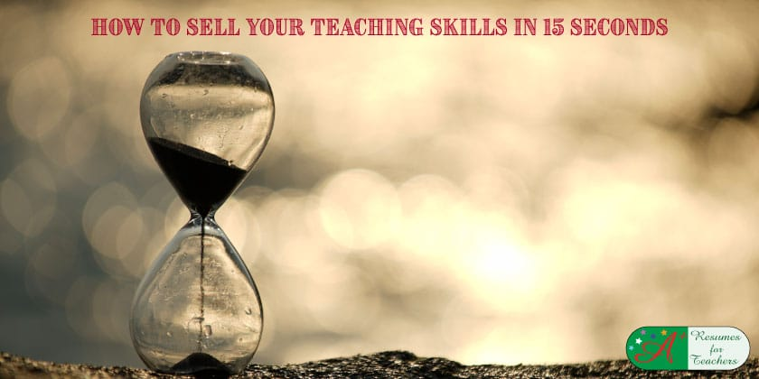 How to Sell Your Teaching Skills in 15 Seconds