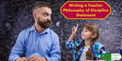writing a teacher philosophy of discipline statement