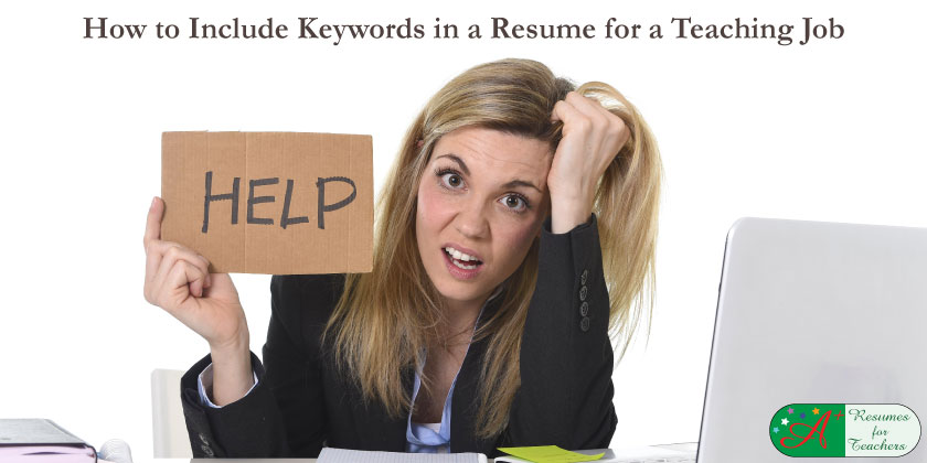 How to Include Keywords in a Resume for a Teaching Job