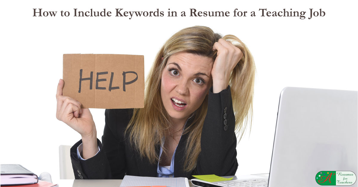 teacher or principal resume and cover letter keywords