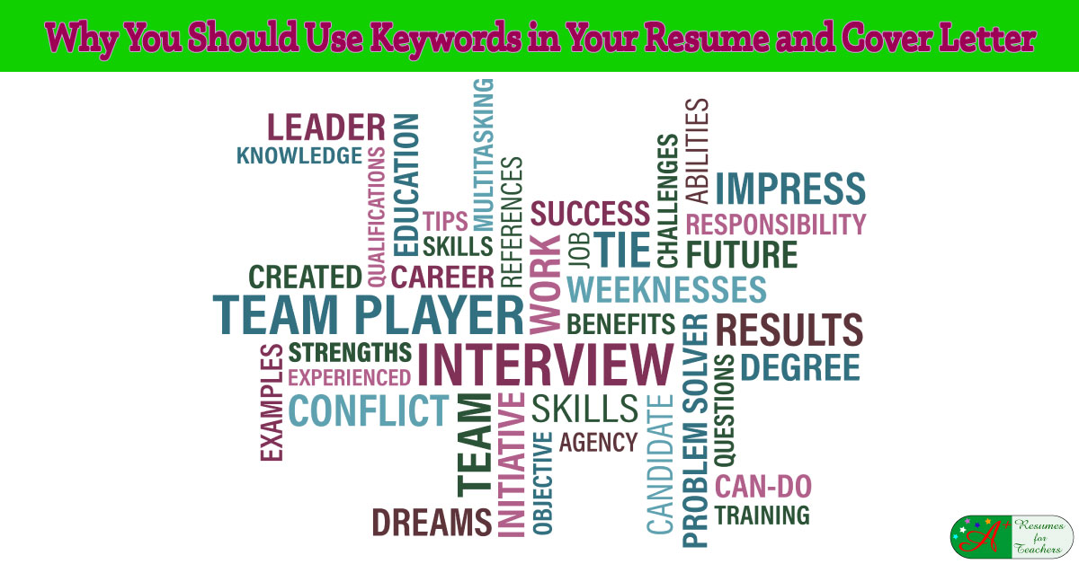 should i take a cover letter to an interview - why you should use keywords in your resume and cover letter