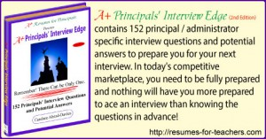 152 School Principal Interview Questions