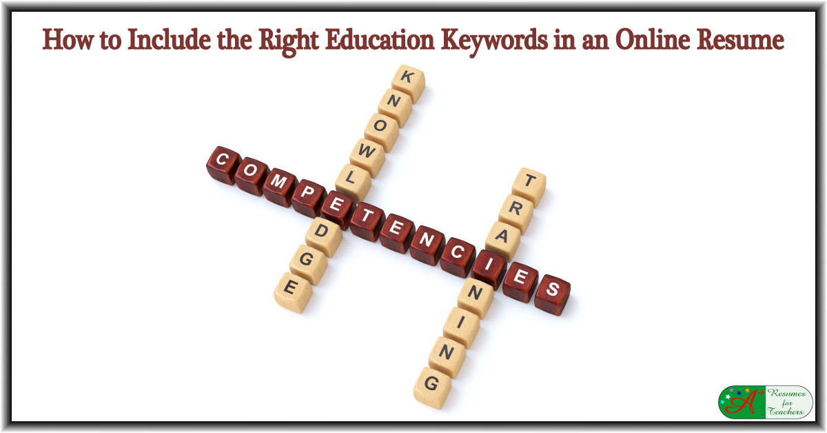 how to include the right education keywords in an online