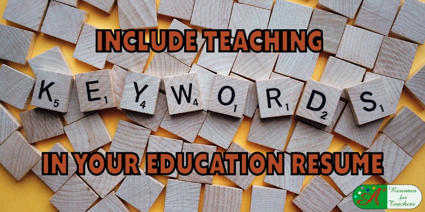 include teaching keywords in your education resume