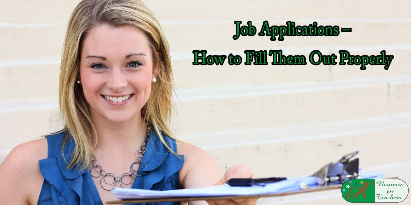 Job Applications How to Fill Them Out Properly