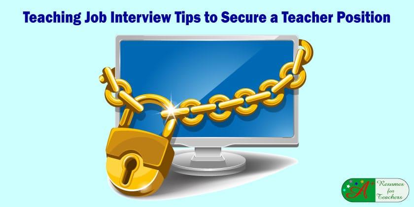 Teaching Job Interview Tips to Secure a Teacher Position