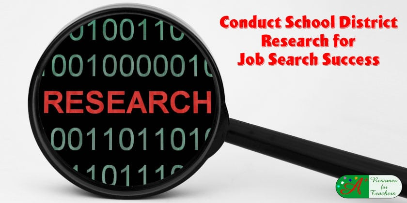 Conduct School District Research for Job Search Success