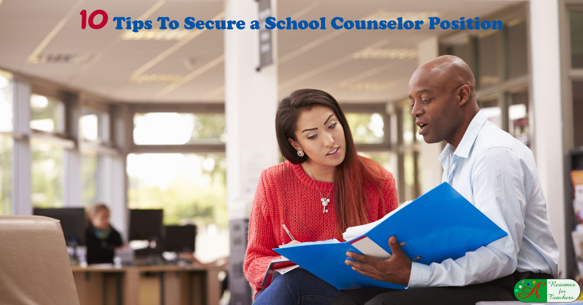 job search tips for school counselors