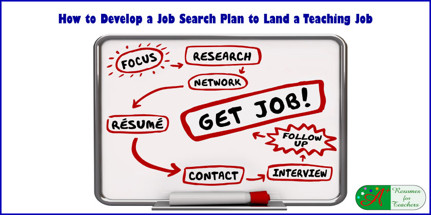How to Develop a Job Search Plan to Land a Teaching Job