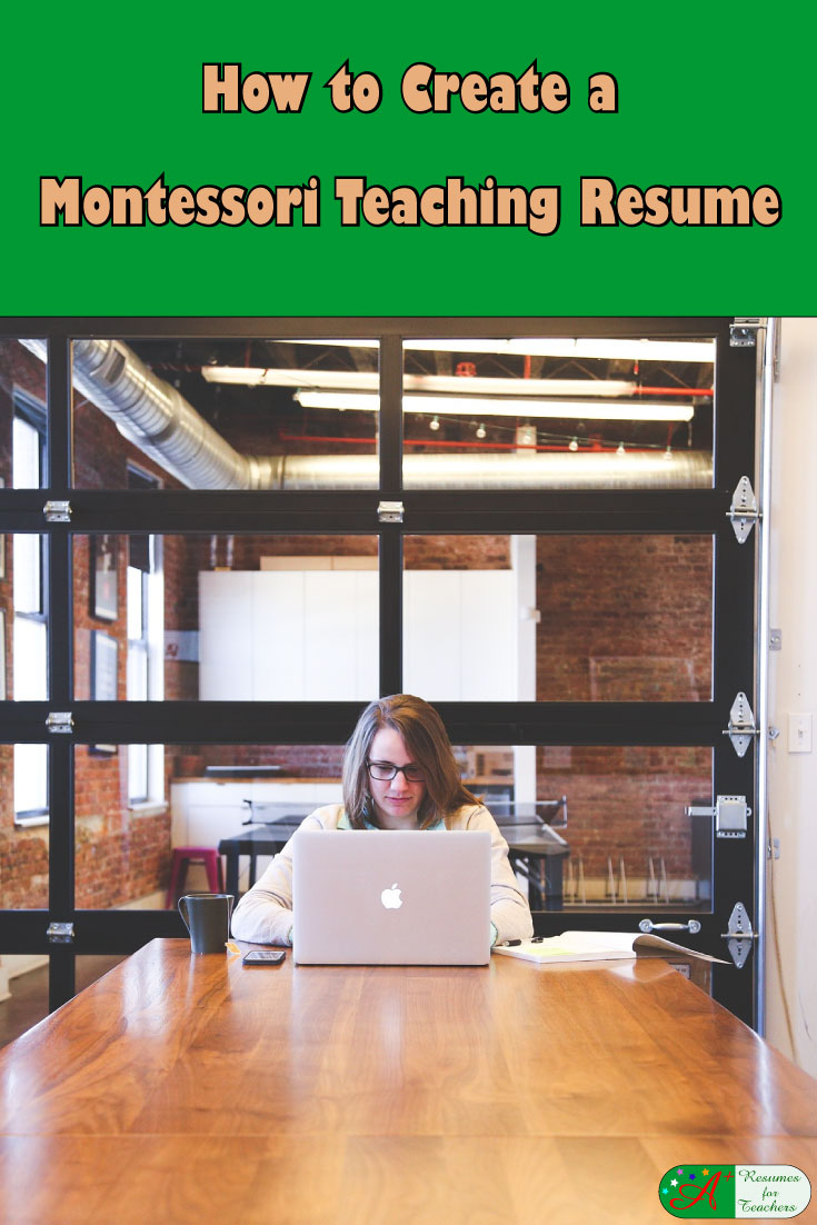 how to create a montessori teaching resume