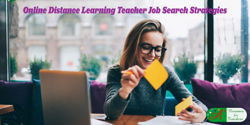Online Distance Learning Teacher Job Search Strategies