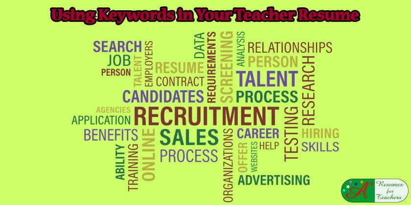 ... Using Keywords In Your Teacher Resume  Keywords On Resume