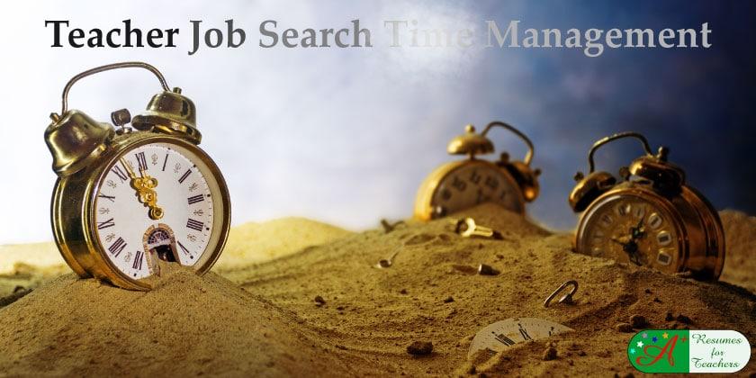 Teacher Job Search Time Management
