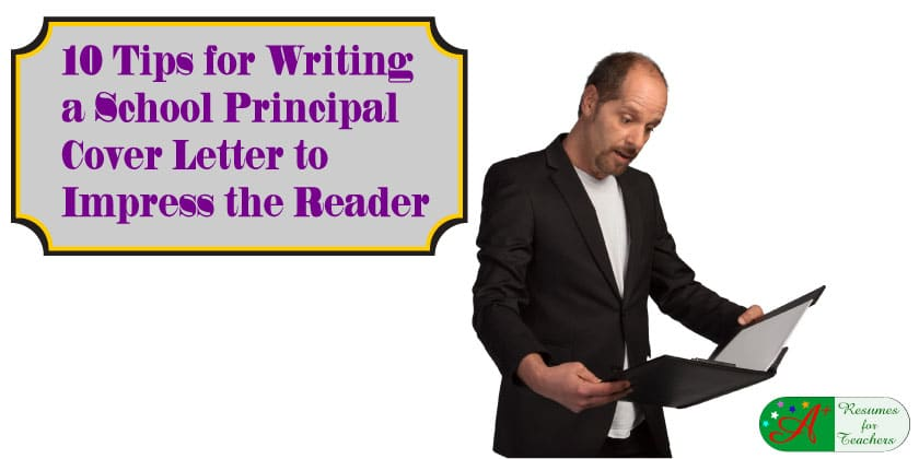 school principal cover letter writing advice