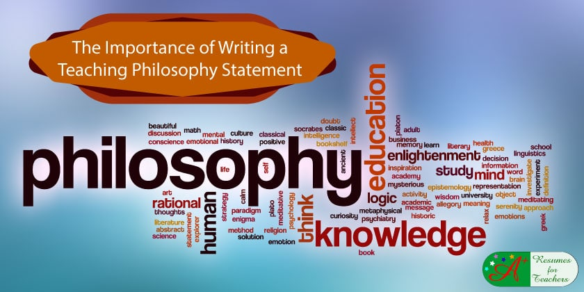 the importance of writing a teaching philosophy statement