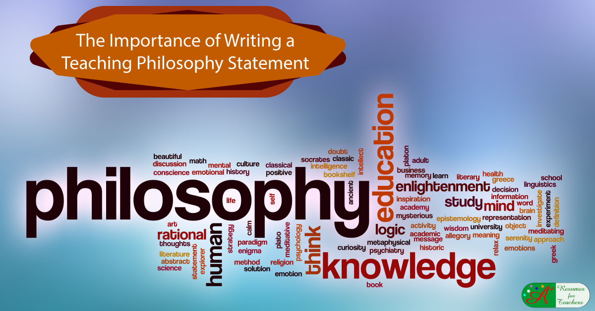 Writing Guide For Developing A Teacher Philosophy Statement