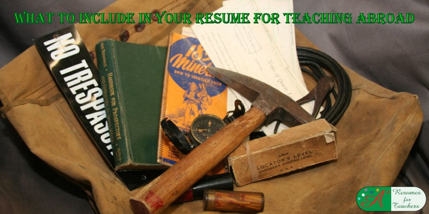 What to include in your resume for teaching abroad.