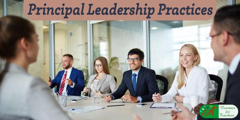 school principal leadership practices