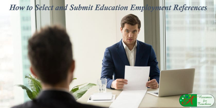 How to Select and Submit Employment References