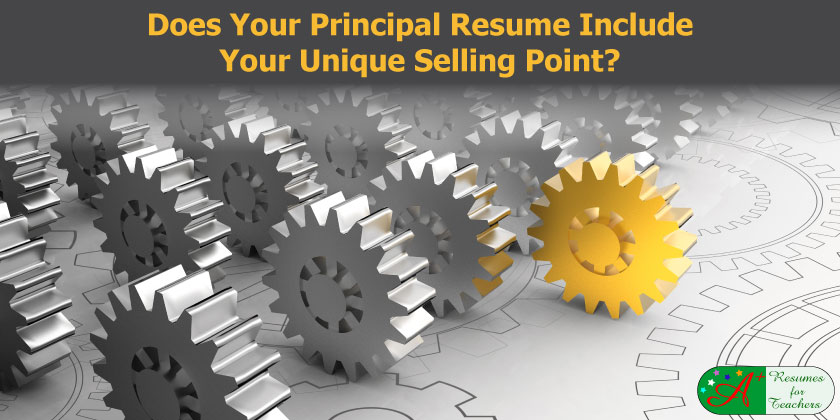 does your principal resume include your unique selling point?