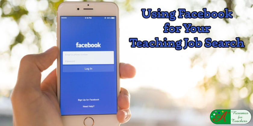 using facebook for your teaching job search