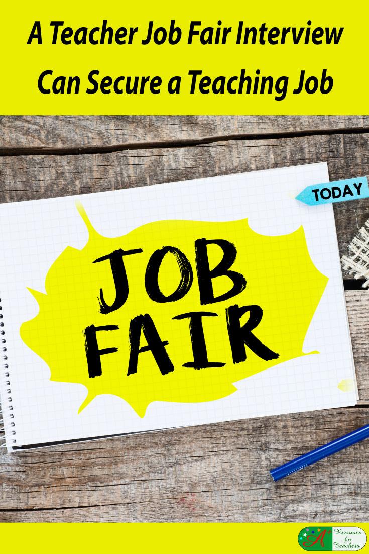 a teacher job fair interview can secure a teaching job