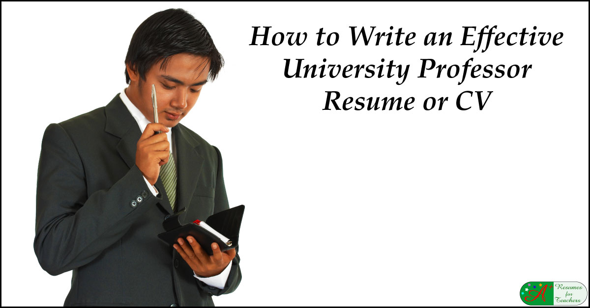 how to write an effective university professor resume
