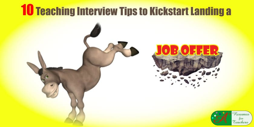 10 teaching interview tips to kickstart landing a job offer