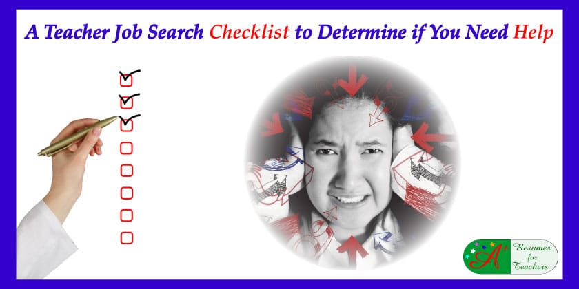 a teacher job search checklist to determine if you need help
