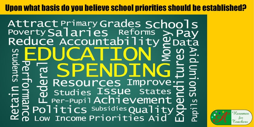 upon what basis do you believe school priorities should be established?