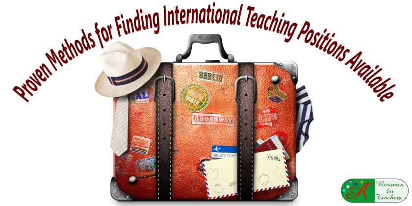 Proven methods for finding international teaching positions jobs