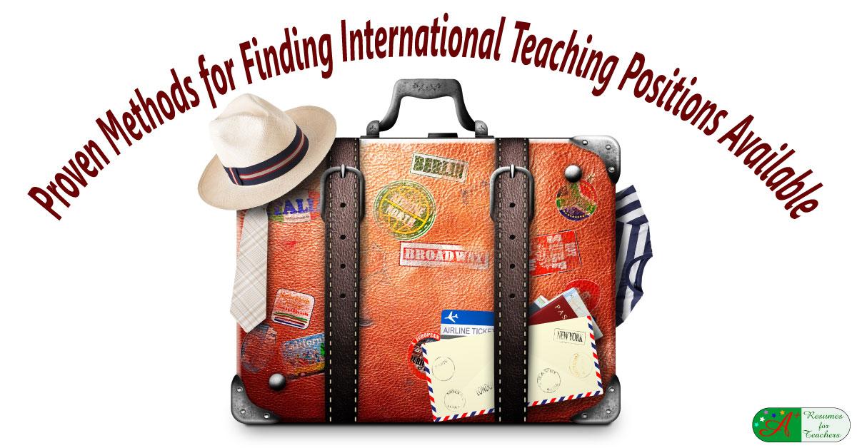 Proven Methods For Finding International Teaching