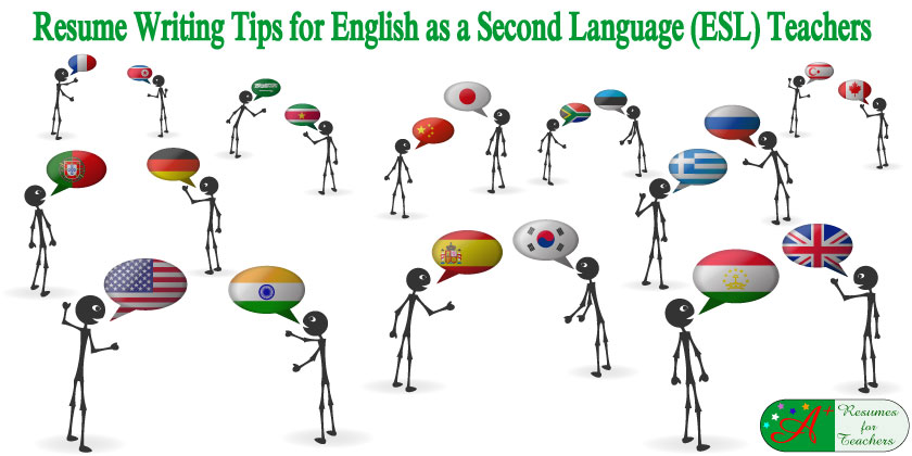 resume writing tips for english as a second language ESL teachers