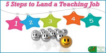 5 steps to land a teaching job