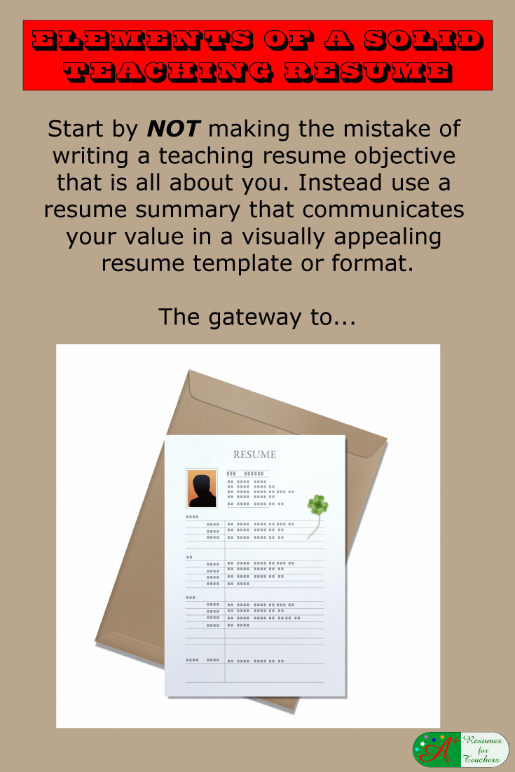 elements of a solid teaching resume