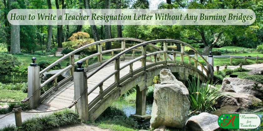 How to write a teacher resignation letter without burning bridges altavistaventures Image collections