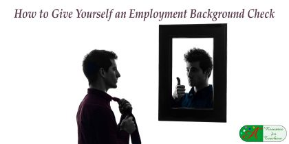how to give yourself an employment background check