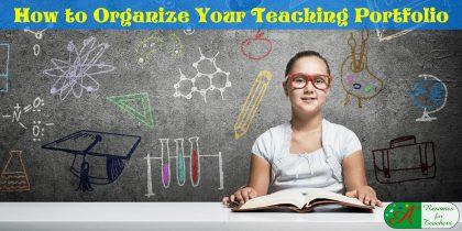 how to organize your teaching portfolio