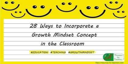 28 ways to incorporate growth mindset concept into the classroom