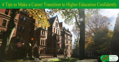 4 tips to make a career transition to higher education confidently
