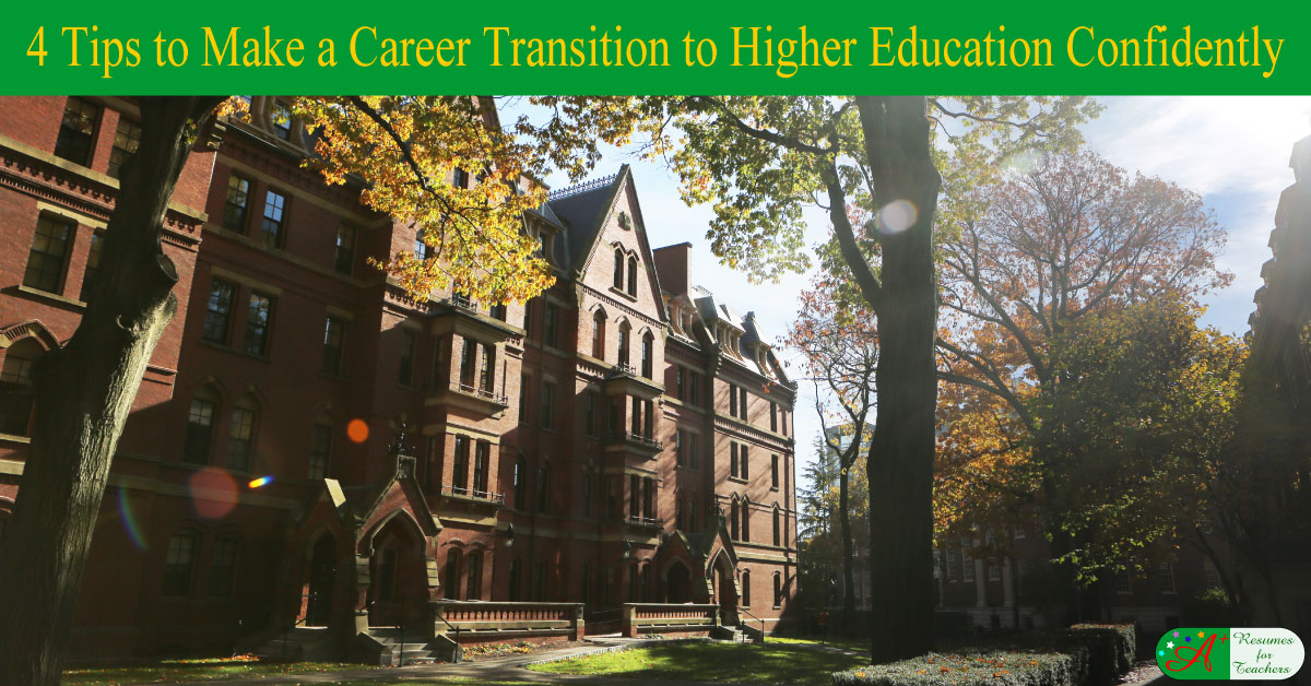 4 tips to make a career transition to higher education