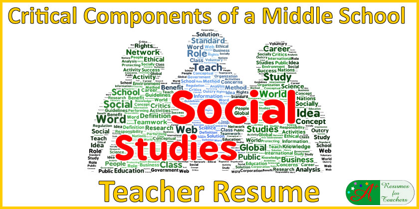critical components of a middle school social studies teacher resume