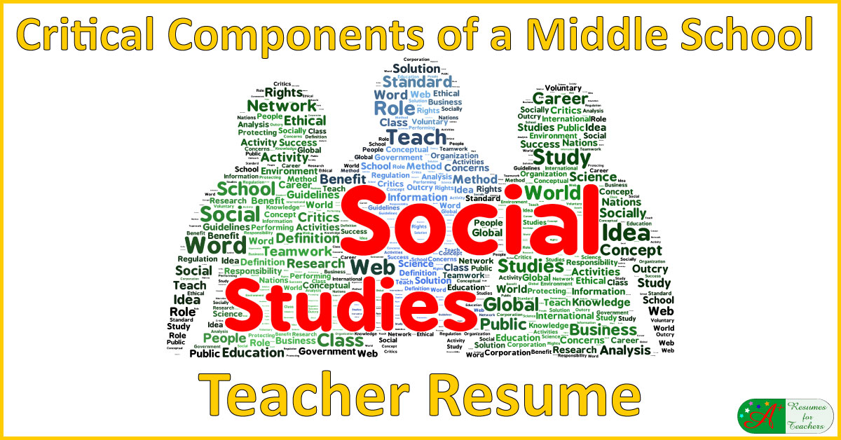 A+ Resumes For Teachers  Social Studies Teacher Resume