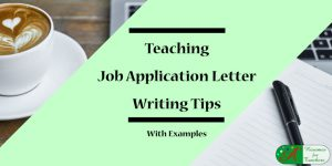 teaching job application writing tips with examples