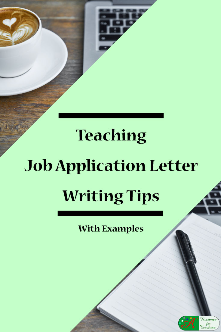 Teaching Job Application Letter Writing Tips With Examples