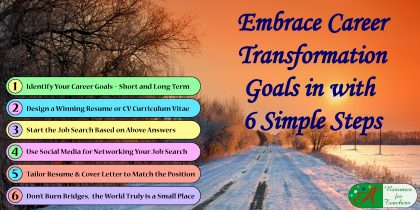 Embrace Career Transformation Goals in with 6 Simple Steps