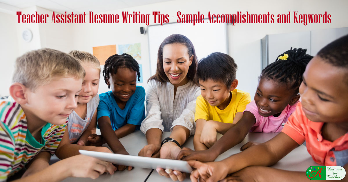 Teacher Assistant Resume Writing Tips With Examples