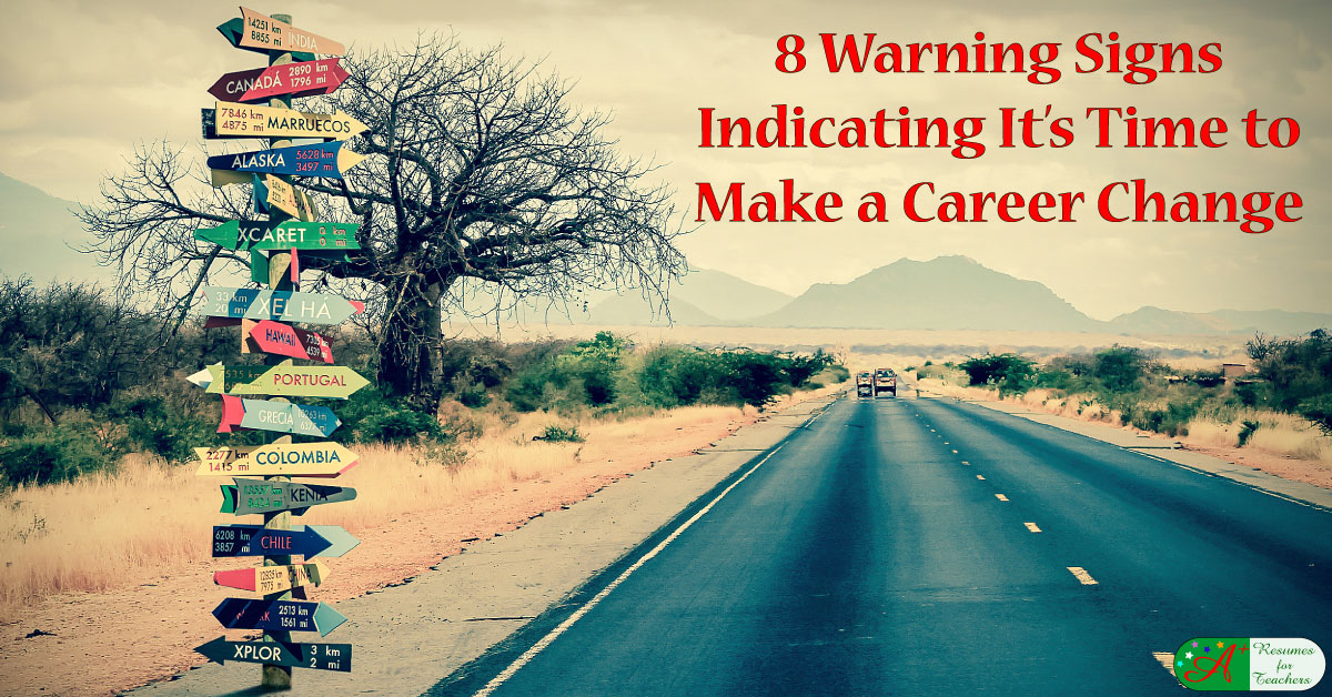 8 warning signs that it u0026 39 s time to make a career change