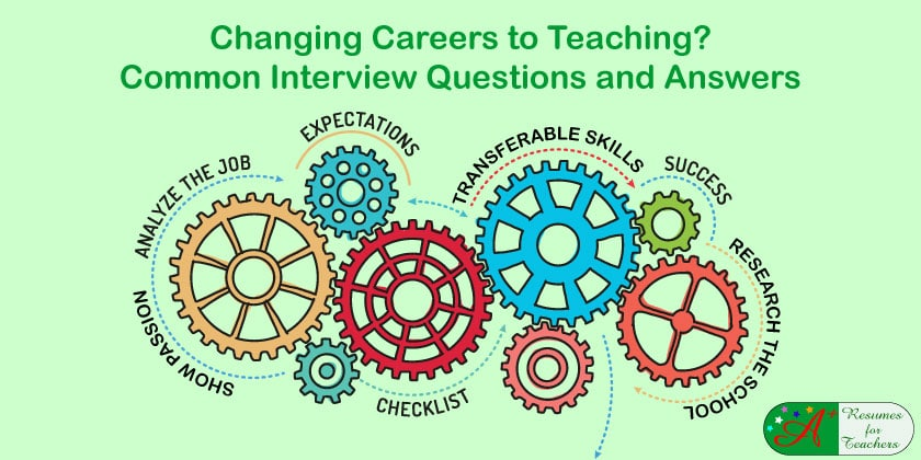 Changing Careers to Teaching Interview Questions and Answers